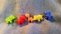 Mini Dinosaur Soap Set  - Kid's soaps. Party Favors. Special treats. Stocking Stuffers. by heffernanscrafts on Etsy