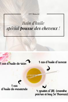 Find my oil bath recipe to grow your hair more alive … - Recipes Easy & Healthy African Natural Hairstyles, Afro Hairstyles, Natural Hair Styles, How To Grow Your Hair Faster, Bath Recipes, Hair Growth Oil, Natural Life, Natural Cosmetics, E Bay