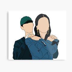 Kpop Drawings, Anime Couples Drawings, Canvas Art, Canvas Prints, Bullet Journal Art, Korean Art, Illustration Art, Illustrations, Kawaii
