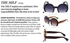 "AmazonSmile: PRIVE REVAUX ""The MILF"" Handcrafted Designer Cut Off Sunglasses (Tortoise): Clothing Sunnies, Sunglasses, Cut Off, Tortoise, Eyewear, Fashion Brands, Clothing, Stuff To Buy, Design"