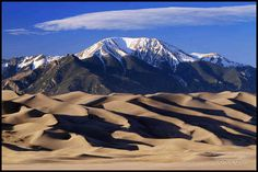 Great Sand Dunes - Colorado... Ice to come out here a lot when I lived in colorado beautiful drive beautiful free range buffalo on the drive up there just gorgeous