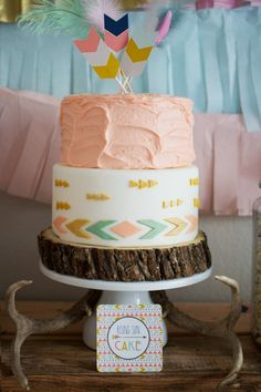 Tribal Princess Themed Birthday Party Perfect custom cake for a young, wild, and three themed birthday party! 1st Birthday Girls, 3rd Birthday Parties, Birthday Fun, Princess Birthday, Birthday Ideas, Princess Party, Pocahontas Birthday Party, Birthday Cake, Pocahontas Cake