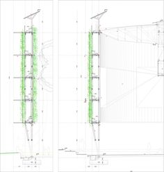 Eco Boulevard in Vallecas / green wall detailed Section 02