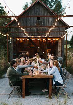 Ideas For Backyard Garden Wedding Reception Rehearsal Dinners Outdoor Dinner Parties, Outdoor Entertaining, Barn Parties, Dinner With Friends, Fall Harvest, Plein Air, Rehearsal Dinners, Outdoor Dining, Outdoor Harvest Table