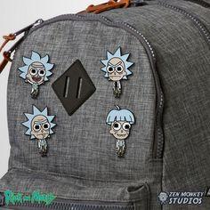 Pocket Doofus Rick - Rick and Morty Pins - Zen Monkey Studios
