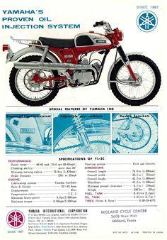 YAMAHA Brochure YL2 YL2C YL-2C Trailmaster 1967 1968 1969 #2 Sales Catalog REPRO | eBay