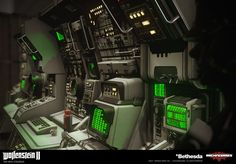 My responsabilty was to design from scratch the modular consoles in the submarine. It needed to have some interesting visual identity without being excessively complex or expensive. Futuristic Art, Futuristic Technology, The New Colossus, Spaceship Interior, Sci Fi Spaceships, Sci Fi Environment, Spaceship Concept, Interior Concept, Dark Fantasy Art