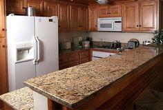 colonial cream granite kitchen - Google Search