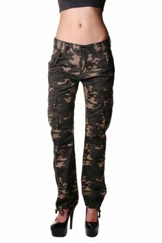 Red Fox Camoflague Boyfriend Cargo Pant $36