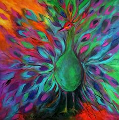 light - Peacock in Bloom by Alison Caltrider