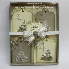 Whiff of Joy - Tutorials & Inspiration: Box with divisors for Christmas tags