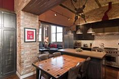Striking Chicago Loft Artistically Displaying the Owner's Guitar Collection