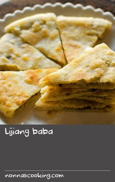 Lijiang baba | This is an authentic Chinese recipe for baba, a wheat-based flat bread that is filled with sweet or savoury ingredients and pan-fried until flaky and crispy (though you can also bake them in the oven). This version is flavoured with peanuts and walnuts, and two types of sugar.