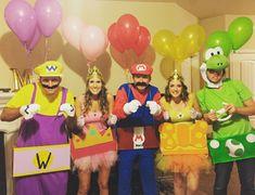 Mario Cars Kostüm Gruppe aus berühmten Nintendo Spiel
