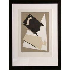 "Alberto Magnelli, ""Composition,"" Lithograph ($2,500) ❤ liked on Polyvore featuring home, home decor, wall art, paper wall art, signed lithograph, italian home decor and italian wall art"