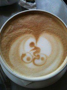:) coffee bike foam
