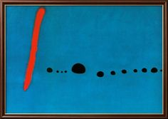 Joan Miró - Modrá II Obrazy na AllPosters.cz.