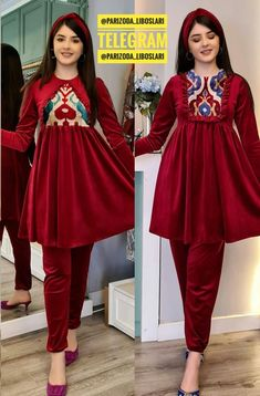 Velvet Dress Designs, Afghan Clothes, Fashion Drawing Dresses, Casual Formal Dresses, Kurta Neck Design, Fashion Sewing, Designer Dresses, Peplum Dress, Gowns
