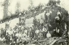 Not sure where this image came from. Its an old logging photo.