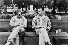 Director Robert Zemeckis with Tom Hanks ~ Forrest Gump (1994) ~ Behind the scenes