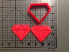 Diamond Cookie Cutter and Stamp