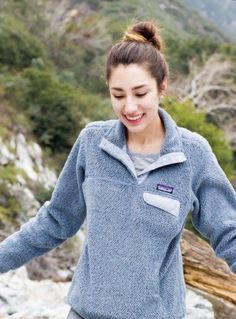 Women's Patagonia Re-Tool Snap-T Fleece Pullover in Tailored Grey/Nickel Grey X Dye W/ Calcium. From Fall 2018 - newer style re-tool pullover from Patagonia with wider hem instead of bands around the bottom of the sleeves and body. Gently used condition with no holes or stains. Just a bit of wear on the back near the hem (shown in pics). Measurements provided in pictures. Patagonia Fleece Jacket, Fall 2018, Bands, Stains, Pullover, Grey, Pictures, Sleeves, Sweaters