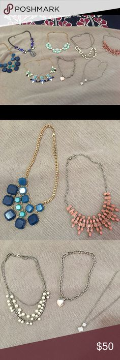 STATMENT NECKLACE BUNDLE 🌷🌸 8 beautiful statement necklace bundle. Most of the necklaces have been once & all are in great condition. I can split up, but would rather sell together. Great for spring 🌷🌸 let me know if you have questions. Happy poshing ❤❤ Maurices Jewelry Necklaces
