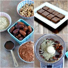 Healthy Protein Bars ... EASY.  ***Mint Chocolate Brownie Protein Bars***