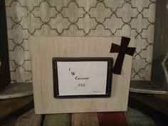 Adorable 4x6 cross frame!