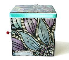 Music Box Spectrum Noir Dark pencil pad 'exquisite florals' Colorista metallic pencils Designed by Kim Wilkin #SpectrumNoir #Colorista #ColoristaDark #CraftersCompanion