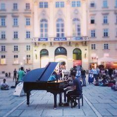 open piano im museumsquartier - love it! Vienna, Piano, Music, City, Musica, Musik, Pianos, Muziek, Music Activities