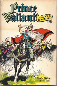 "PRINCE VALIANT in the Days of King Arthur 1951 HARDCOVER BOOK in original Dust Jacket. Art by Harold ""Hal"" Foster published by Hastings House and available, as well as many other Hal Foster, Prince Valiant & Tarzan titles at QualityComicsAmerica"