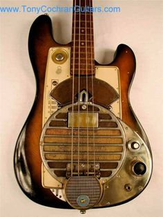 """Mercy Bass Guitar by Tony Cochran GuitarsTony Cochran Guitars says """"It's all about this Bass""""! Check out the Mercy Bass at http://www.tonycochranguitars.com/mercy-bass-guitar.html"""