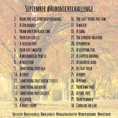 Here's the #hobonichichallenge for September, hosted by myself and my awesome hobo friends @chotskibelle @palestblue @penguinscreative @mylifemits You can draw or take a photo, whatever your fancy for the prompts each day- and join us for the month of Setpember! Remember to tag your posts using #hobonichichallenge - we love to see everyone participating and they're take on the prompts! Enjoy It's the first day of Spring here in New Zealand- and the sun is shining!! ☀️