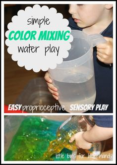 Big Bottle Color Mixing Water Sensory Play For Proprioceptive Sensory Input