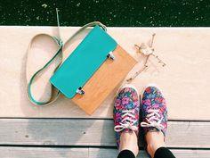 Colorful Wooden Satchel Bag By GRAV GRAV   Shoulder Bags - AHAlife.com