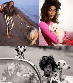 Naomi Campbell's love of dogs. | 51 Reasons Why Supermodels Were Better In The '90s