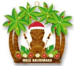 Amazon.com - Hawaiian Metal Christmas Ornament Holiday Tiki