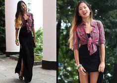 Dasha Li - Topshop Shirt - Black&Red