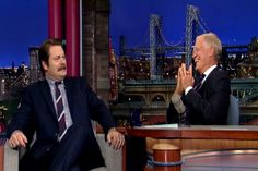 "Video Licks: Nick Offerman talks about his ""sticky finger"" exploits on Letterman"