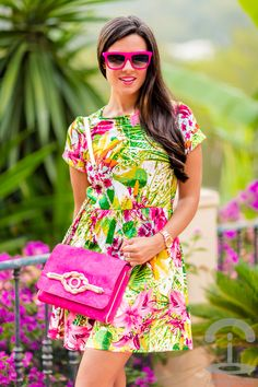 Vestido tropical dress Italia Independent Sara Navarro Crimenes de la Moda