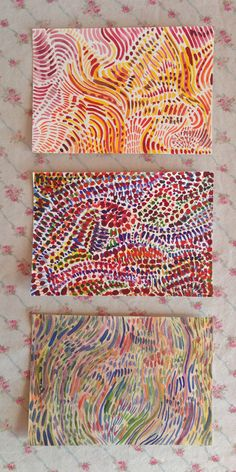 Original Art : Trio of Abstract Watercolor Paintings on Paper. $54.00, via Etsy.