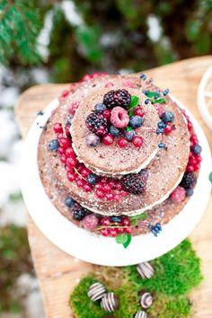Schokoladen Naked Cake  von Coucou Bonheur   Foto: Vanessa Badura