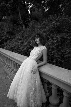 romantic short lace wedding dress