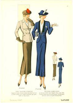 Женская мода 1935 года Мода 1930 Х Годов, Ретро Мода, Женская Мода,  Винтажная 80fbde2ef4d