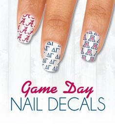 50+ colleges and 20+ Sororities available!  Game Day Nail Decals are perfect for games and events!  A great look at a great price - only $4.99! https://www.eyeblack.com/game-day-nails.html/