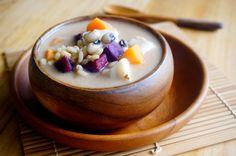 Sweet Potato Stew (BuBur Cha Cha): A Malaysian dessert made healthy.  Vegan, dairy free, wholesome & delicious!