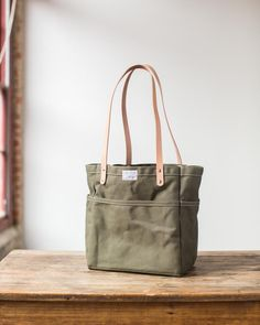 Campus Tote in Olive Drab