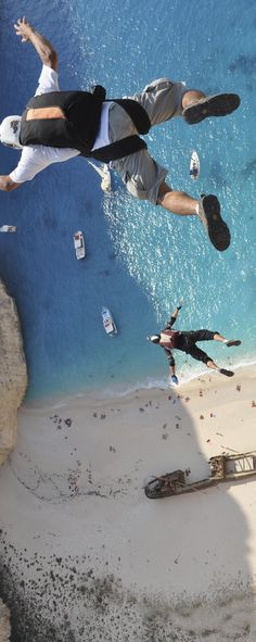 If only the fear of heights wasn't an issue - This looks awesome #redbull Base jumping. Wow!