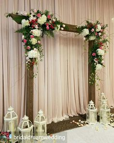 Beautifully created rustic backdrop #piecesandposies